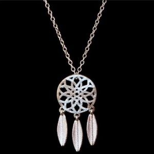 6 for $20 Silver Dreamcatcher Necklace